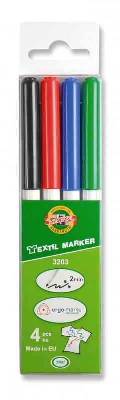 neuveden: Koh-i-noor značkovač na textil set 4ks