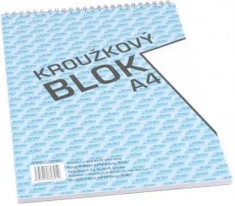 neuveden: Blok s horní vazbou A4, čistý, 50 listů