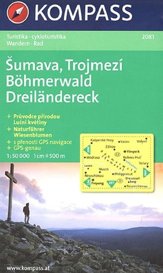 neuveden: Šumava, Trojmezí  2081  NKOM 1:50T