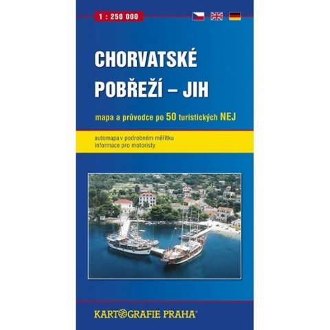 neuveden: Chorvatské pobřeží - jih, 1:250 000 (automapa)