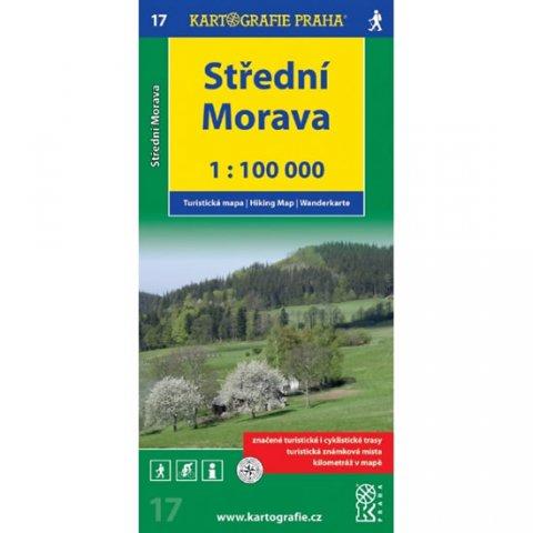neuveden: 1:100T (17)-Střední Morava (turistická mapa)