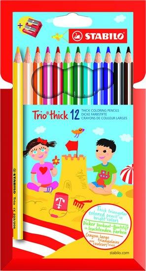 neuveden: Pastelky STABILO Trio thick sada 12 ks