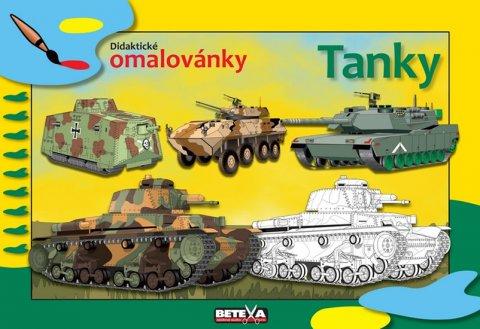 neuveden: Tanky - didaktické omalovánky