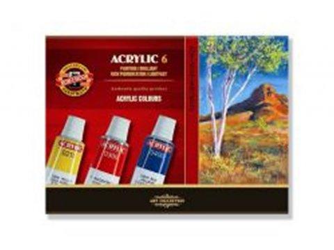 neuveden: Koh-i-noor souprava akrylovych barev 6 x 16 ml