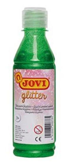 neuveden: JOVI temperová barva glittrová 250 ml v lahvi zelená