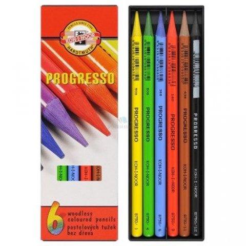 neuveden: Koh-i-noor pastelky PROGRESSO dlouhé souprava 6 ks