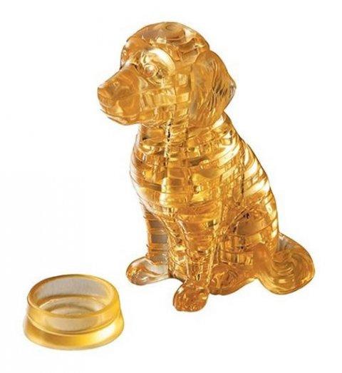 neuveden: Puzzle: Štěně zlatý retrívr / 41 dílků 3D Crystal puzzle