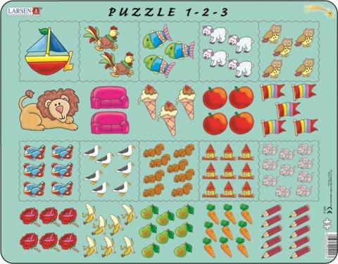 neuveden: Puzzle MAXI - Počítání pro nejmenší s obrázky/10 dílků