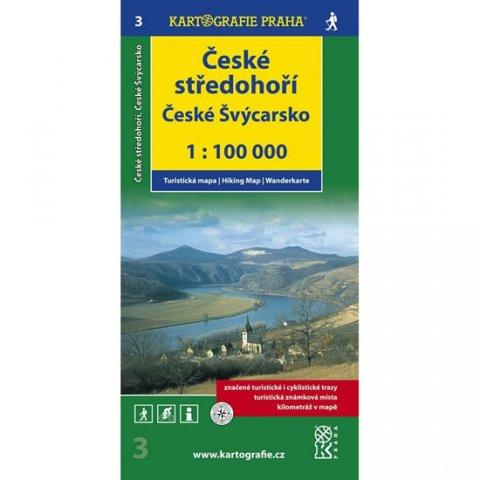 neuveden: 1:100T ( 3)-České středohoří,České Švýcarsko (turistická mapa)