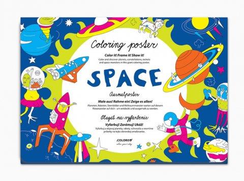 neuveden: Space - Plakát omalovánka
