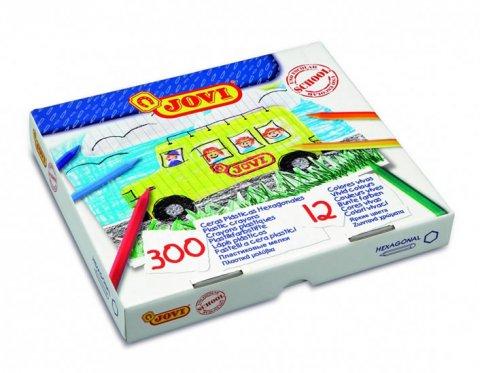neuveden: JOVI plasticolor šestihranné - ekonomické balení 300 ks, 12 barev