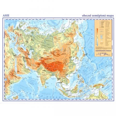 neuveden: Asie - příruční obecně zeměpisná A3/1:42 mil.