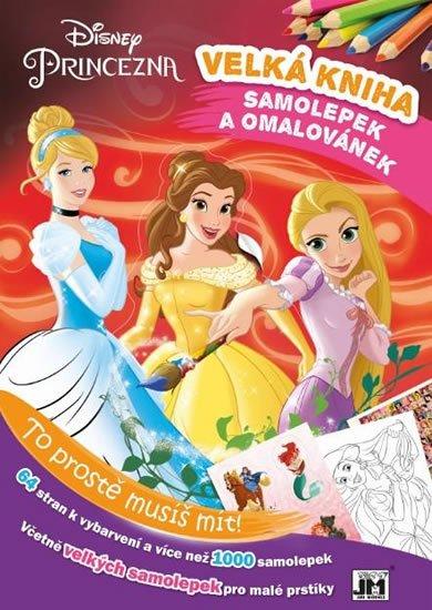 neuveden: Princezny - Kniha samolepek a omalovánek