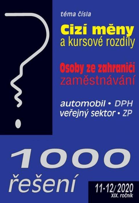 kolektiv autorů: 1000 řešení č. 11-12/2020 - Cizí měny a kursové rozdíly, Osoby ze zahraničí