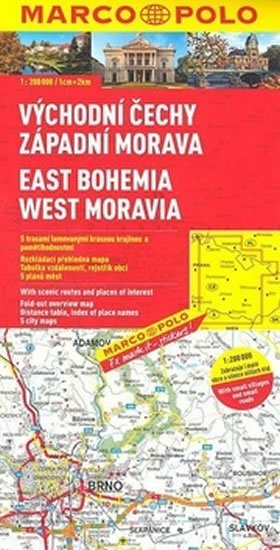 neuveden: Východní Čechy,záp. Morava/mapa