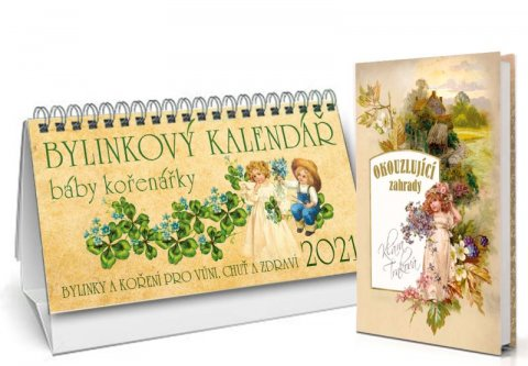 Trnková Klára: Kalendář 2021 - Bylinkový + Okouzlující zahrady