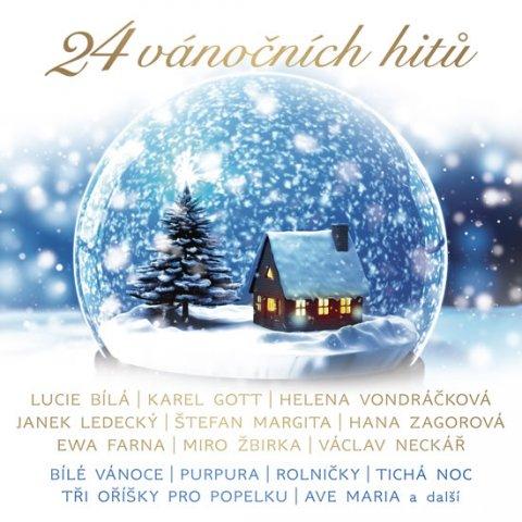 Různí interpreti: 24 vánočních hitů - CD