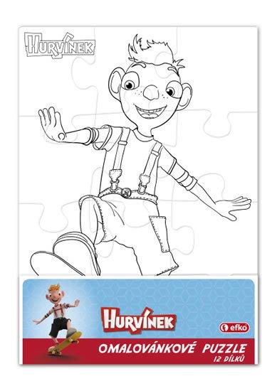 neuveden: Hurvínek - omalovánkové puzzle 12 dílků/obdélník