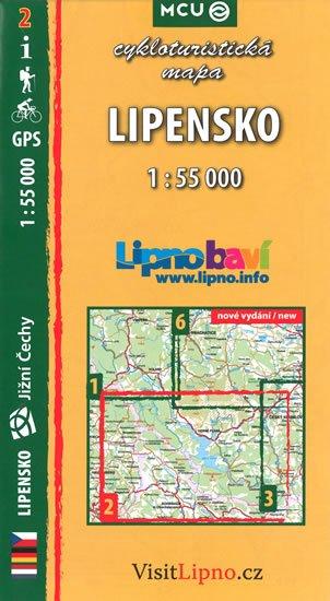 neuveden: Lipensko - cykloturistická mapa č. 2 /1:55 000