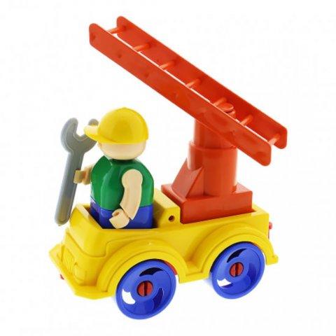 neuveden: Stavebnice BAUER: Auto se žebříkem - malý set