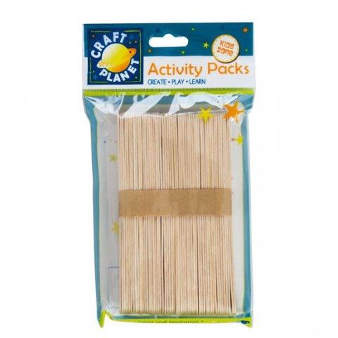 neuveden: DOCRAFTS špachtle dřevěné velké přírodní 15 cm ( 50 ks )