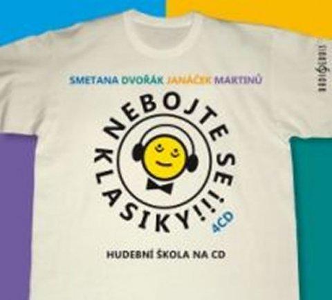 neuveden: Nebojte se klasiky 1-4 komplet čeští skladatelé Bedřich Smetana, Antonín Dv