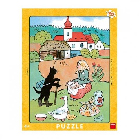Lada Josef: Josef Lada - Mikeš na vandru: puzzle deskové 40 dílků