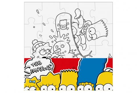 neuveden: The Simpsons: Vymaluj si čtverec/Mini puzzle