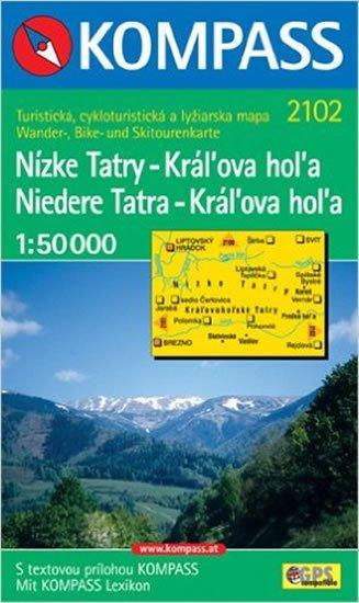 neuveden: Nízké Tatry-Kráĺova hoĺa 2102 NKOM 1:50T