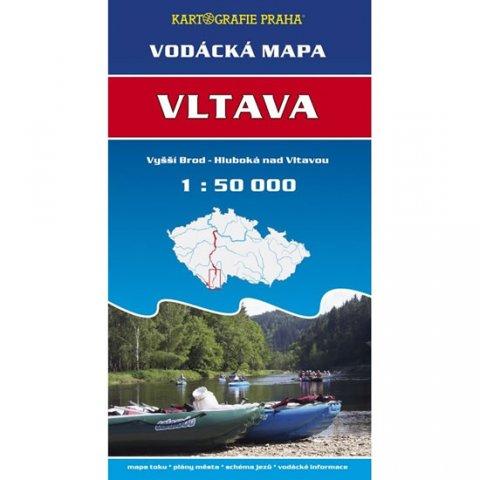 neuveden: Vodácká mapa - Vltava/Vyšší Brod - Hluboká nad Vltavou/1:50 tis.