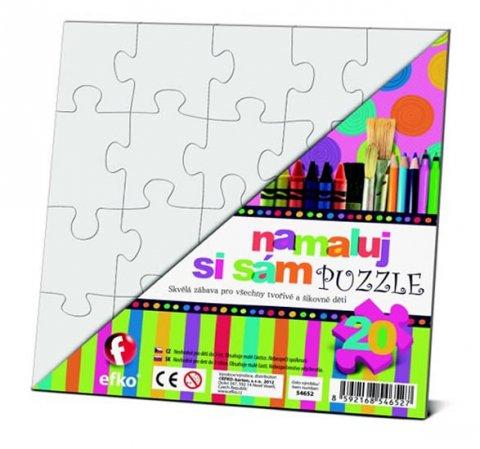 neuveden: Namaluj si sám puzzle: čtverec