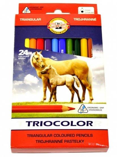 neuveden: Koh-i-noor pastelky TRIOCOLOR trojhranné souprava 24 ks v papírové krabičce