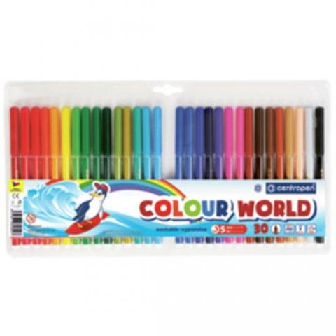 neuveden: Centropen Fixy COLOUR WORLD 7550 trojboké, sada 30 barev