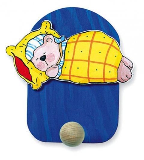 neuveden: Věšák spící medvěd - 1 háček