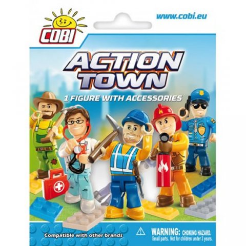 neuveden: Stavebnice COBI 1852 ACTION TOWN Figurka v sáčku