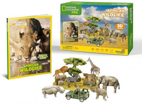 neuveden: Puzzle 3D Africká divočina NG- 69 dílků