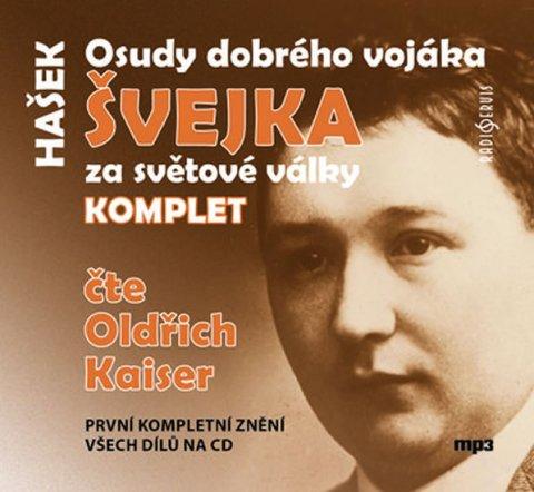 Hašek Jaroslav: Osudy dobrého vojáka Švejka za světové války KOMPLET - 4 CD (Čte Oldřich Ka