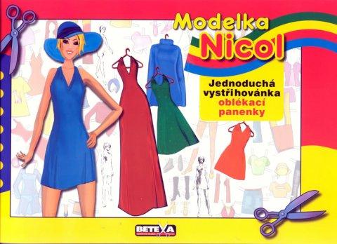neuveden: Modelka Nicol - Jednoduchá vystřihovánky