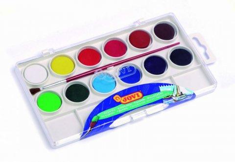neuveden: JOVI vodové barvy 12ks + štětec