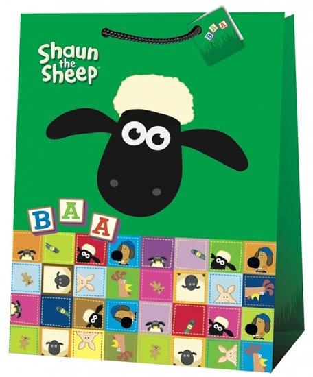 neuveden: Ovečka Shaun - dárková taška/jumbo 7 (zelená)