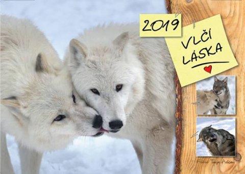 Askani Tanja: Kalendář 2019 - Vlčí láska