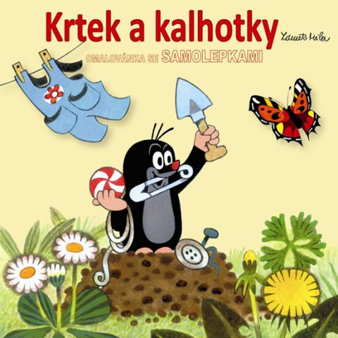 Miler Zdeněk: Krtek a kalhotky - omalovánky čtverec se samolepkami