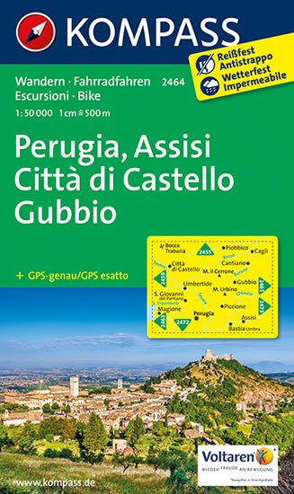 neuveden: Perugia, Assisi, Citta di Castello  2464   NKOM