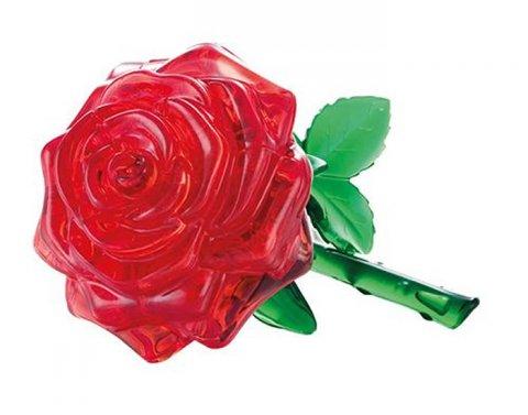 neuveden: Růže červená: 3D Crystal puzzle 44 dílků