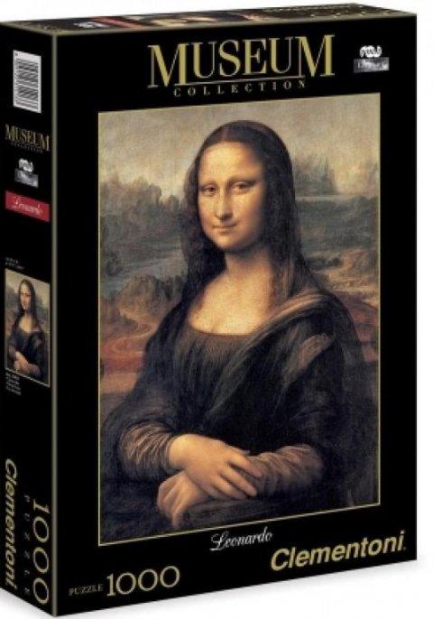neuveden: Clementoni Puzzle Museum Leonardo Mona Lisa / 1000 dílků