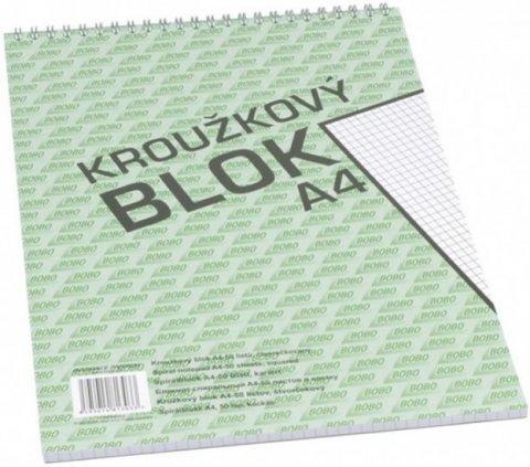 neuveden: Blok s horní vazbou A4, čtvereček, 50 listů