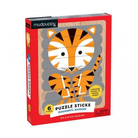 neuveden: Puzzle Sticks: Geometric Animals/Skládačka: Zvířata (24 dílků)