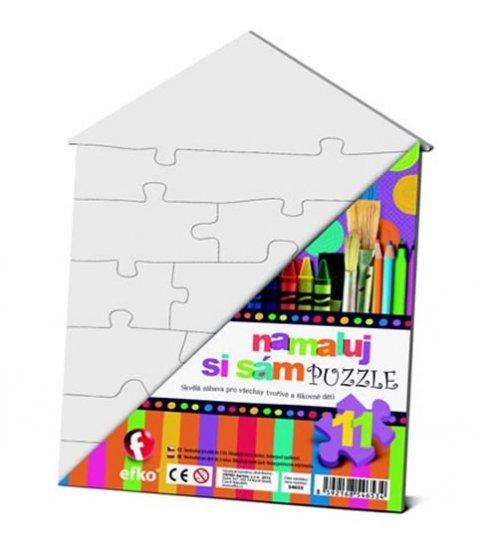 neuveden: Namaluj si sám puzzle: domeček
