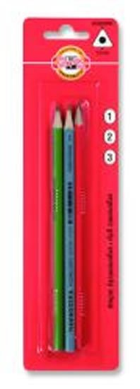 neuveden: Koh-i-noor tužka grafitová trojhranná č.1, 2, 3  set 3 ks