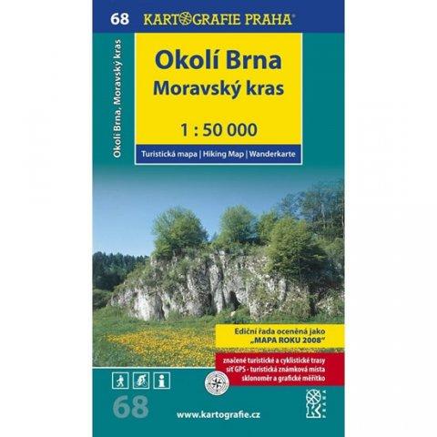 neuveden: 1: 50T (68)-Okolí Brna, Moravský kras (turistická mapa)
